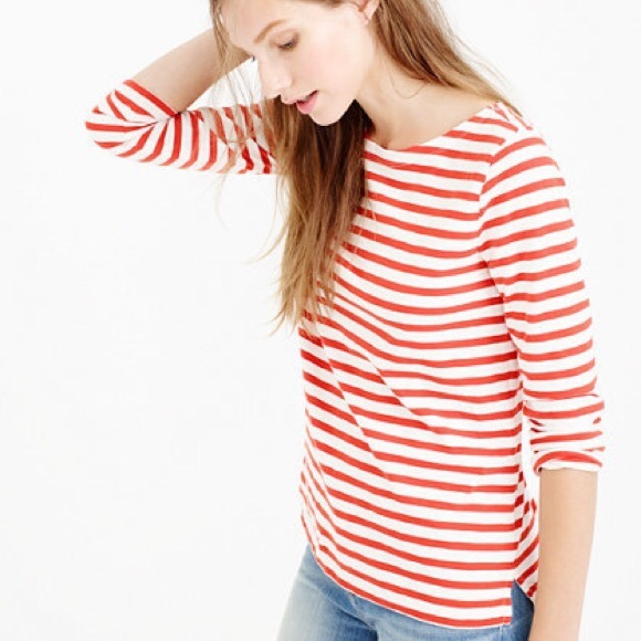 70bb3d3156 J. Crew Tops | Jcrew Striped Boatneck Tshirt | Poshmark